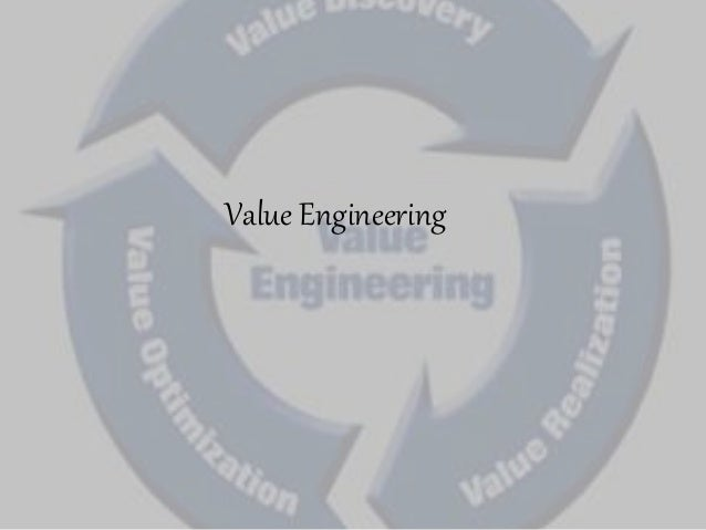 Value engineering 2 for Value engineered