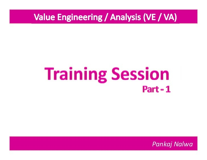 Value engineering part 1 for Value engineered