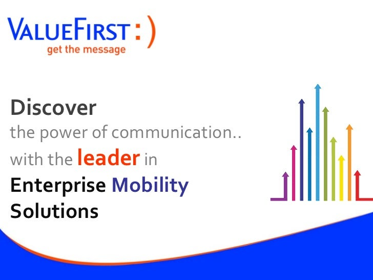 Value first corporate presentation