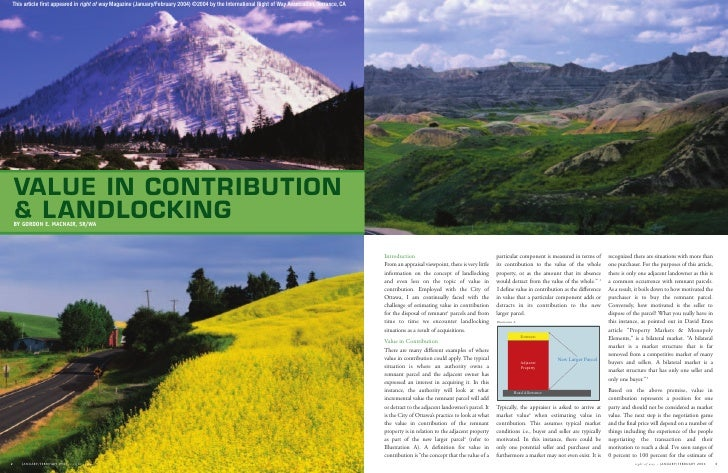 Value in Contribution Published