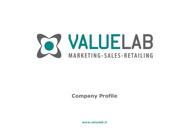 Company Profile   www.valuelab.it          1