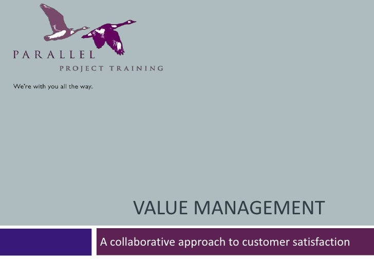 Presentation to the PCMG (Pharmaceutical Contract Management Group) on Value Management