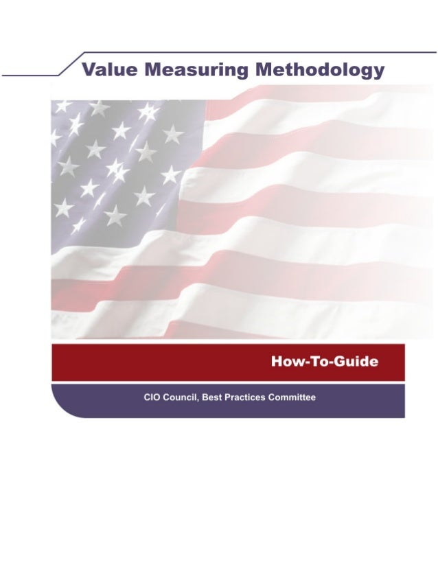 Value measuring methodology how to guide