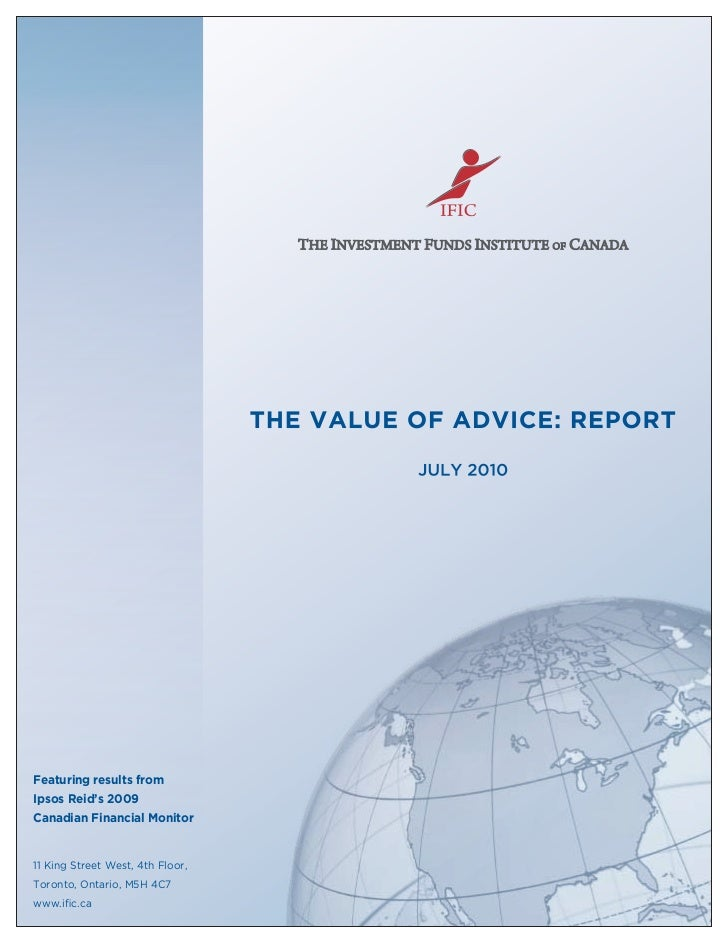 Value Of Advice Report   Ific