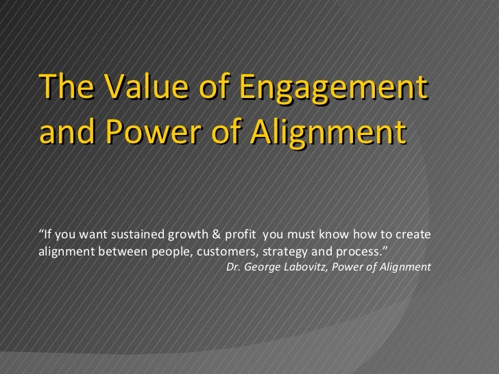 """"""" If you want sustained growth & profit  you must know how to create alignment between people, customers, strategy and pro..."""
