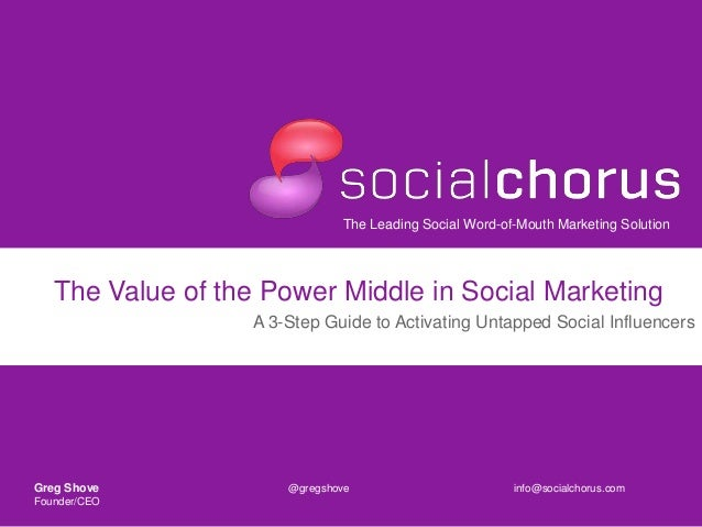 The Leading Social Word-of-Mouth Marketing SolutionThe Value of the Power Middle in Social MarketingA 3-Step Guide to Acti...