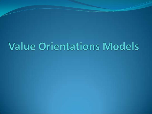 Value orientation model