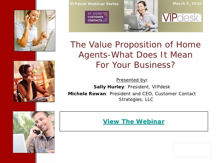 The Value Proposition of Home Agents What Does It Mean For Your Business 030310