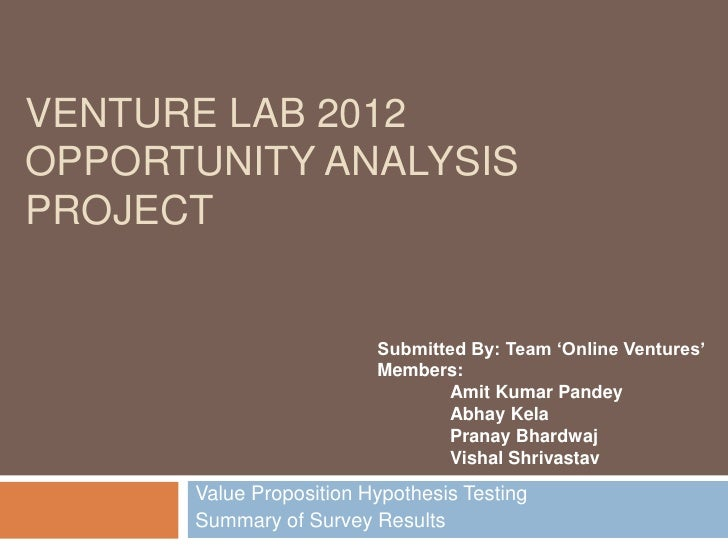Value proposition testing