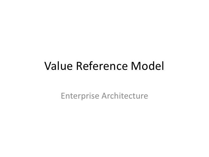 Value Reference Model  - Enterprise Architecture