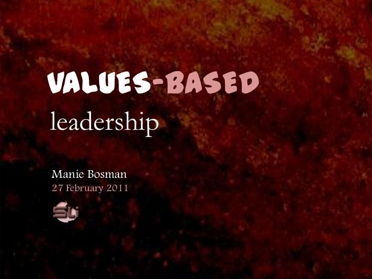 Values Based Leadership