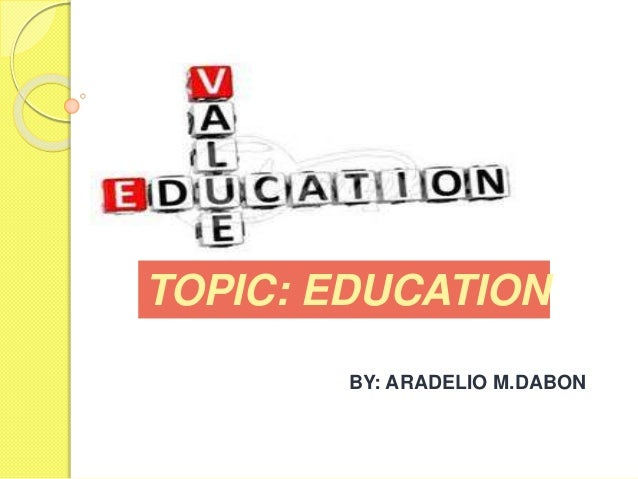 topics on value education Value-added modeling in education for stakeholders attempting to develop or use value-added models in education value-added modeling in education topic.