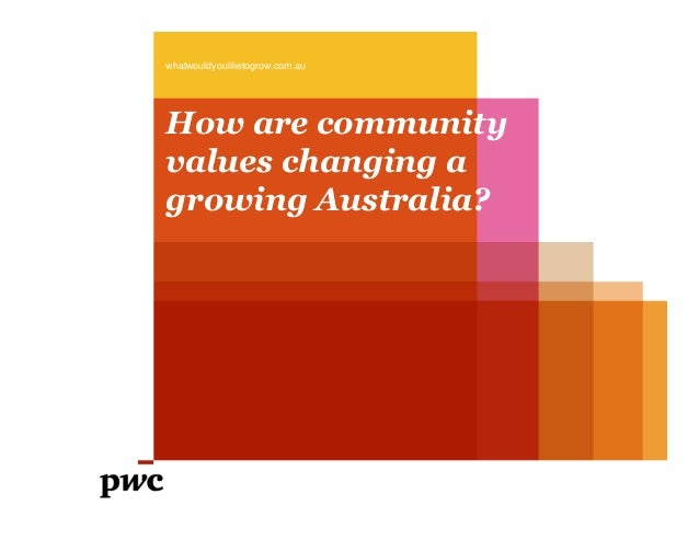How are community values changing a growing Australia? whatwouldyouliketogrow.com.au