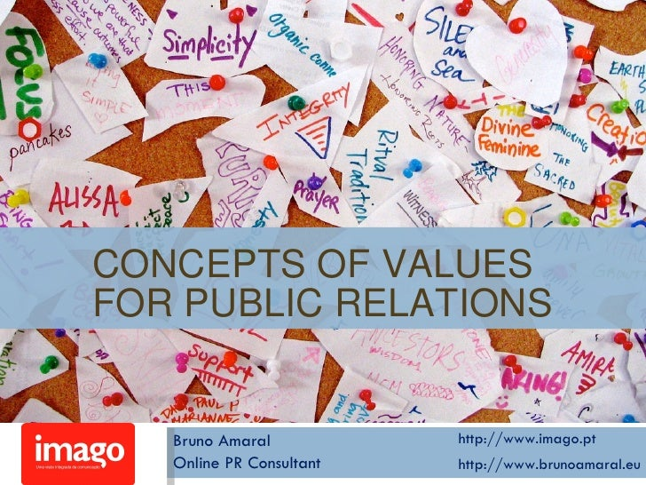 Concepts of Values for Public Relations