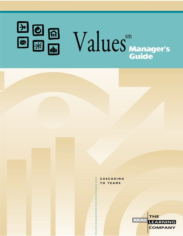 Values: A Manager's Guide
