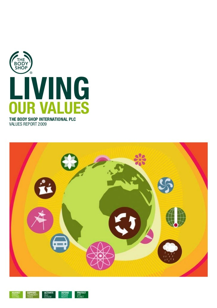 LIvINgOUR vALUESTHE BODY SHOP INTERNATIONAL PLCValues report 2009