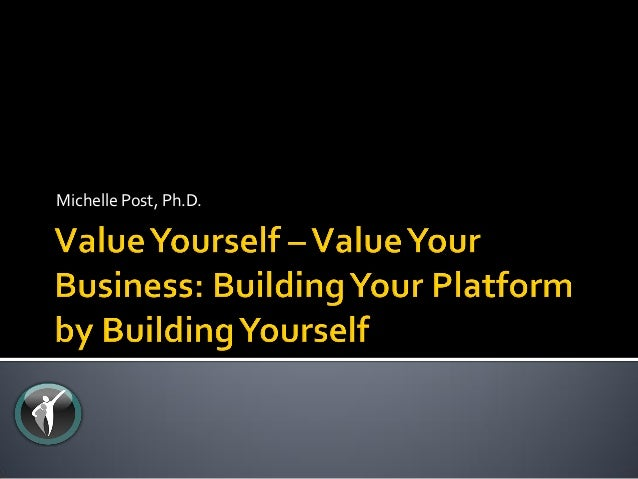 Value yourself   value your business
