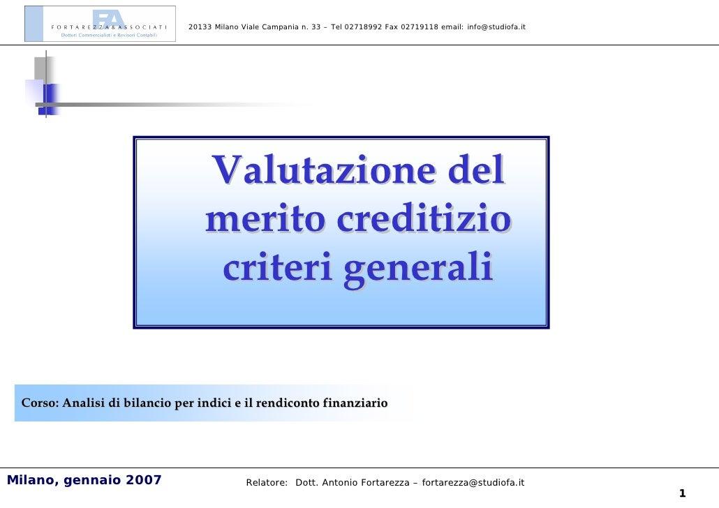 Analisi finanziaria e controllo di gestione milano