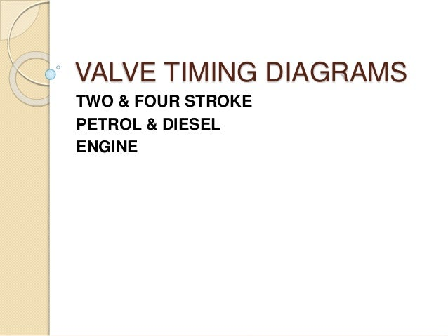 Valve Timing Diagrams
