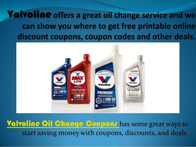Valvoline discount coupons for oil change