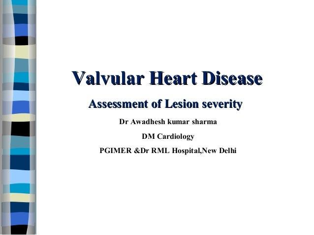 Valvular heart disease assessment of lesion severity