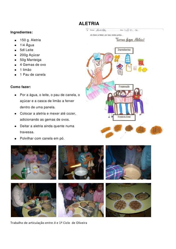 3226435309880ALETRIA<br />Ingredientes: <br />150 g. Aletria<br />14 Água<br />5dl Leite<br />200g Açúcar<br />50g Manteig...