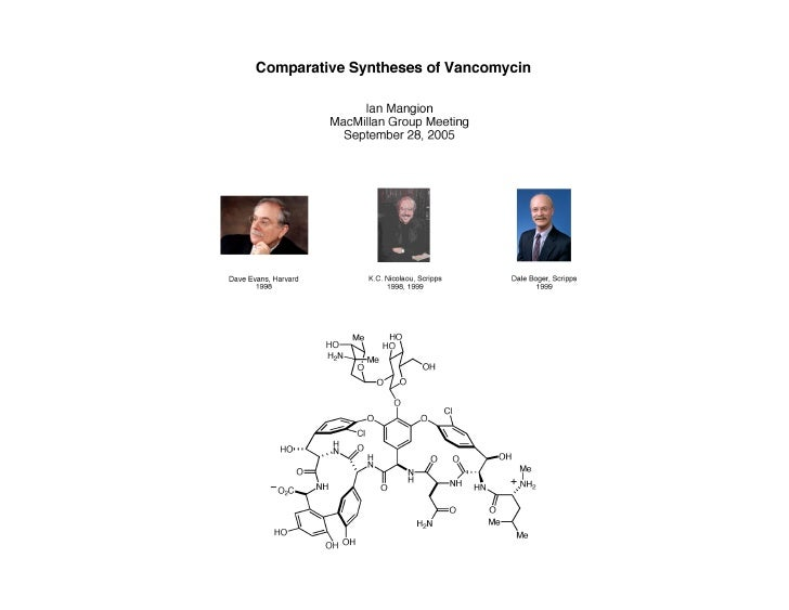 Comparative syntheses of Vancomycin