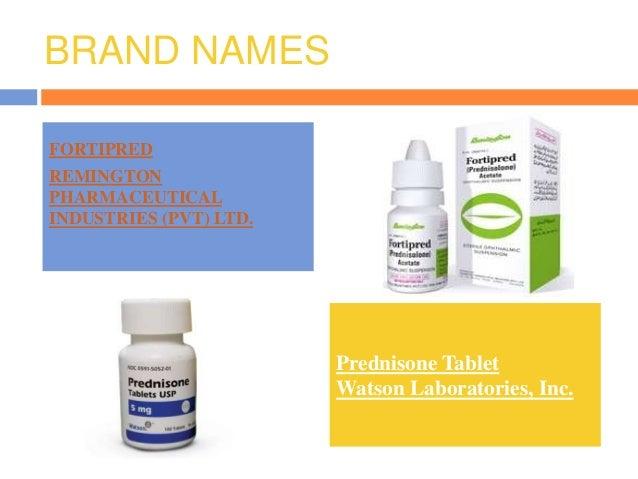 brand name drug prednisone