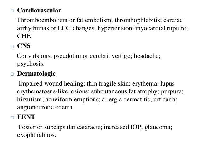 prednisone for phlebitis