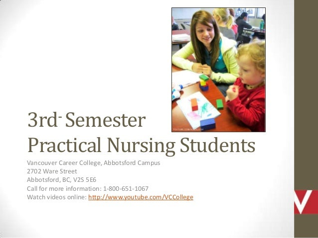 Vancouver Career College 3rd¬ Semester Practical Nursing Program Students Work With Kids in Abbotsford, BC