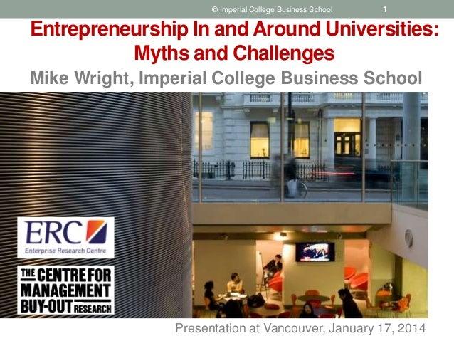 Entrepreneurship In and Around Universities - Mike Wright