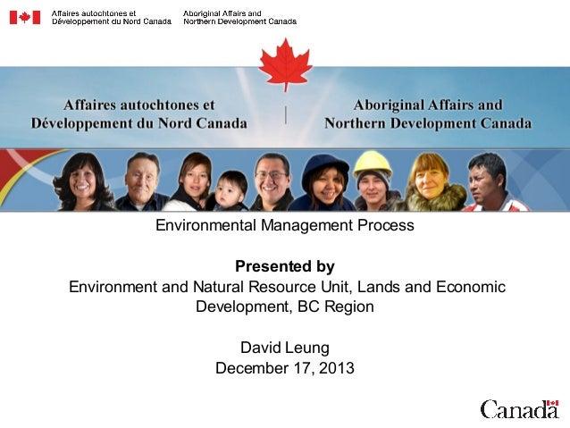 Environmental Management Process-david leung