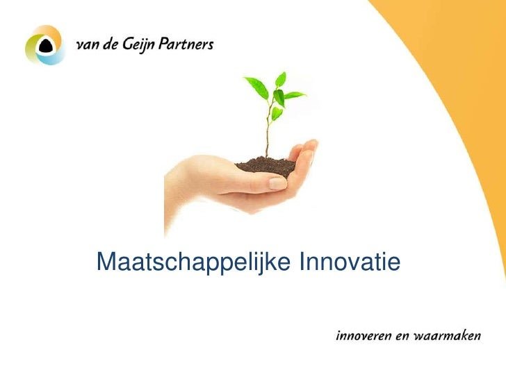 Maatschappelijke Innovatie