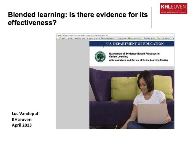 Vandeput 2013 onderzoek blended learning