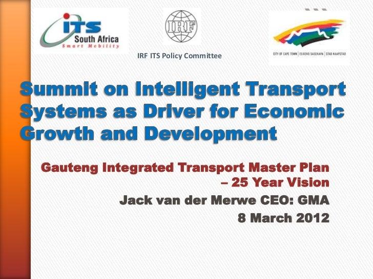Vandermerwe summit on intelligent transport systems