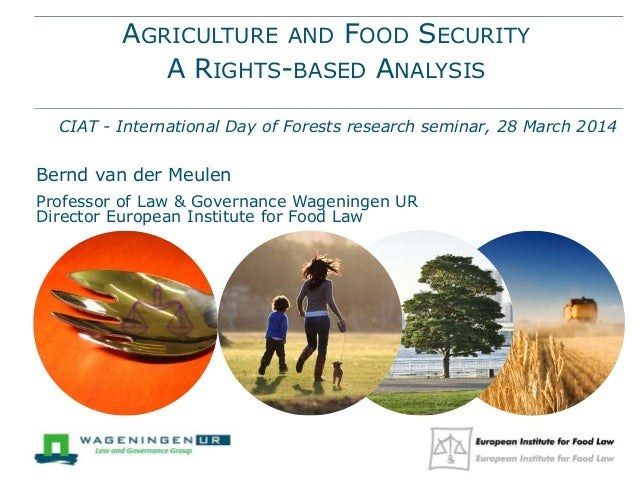 AGRICULTURE AND FOOD SECURITY A RIGHTS-BASED ANALYSIS CIAT - International Day of Forests research seminar, 28 March 2014 ...