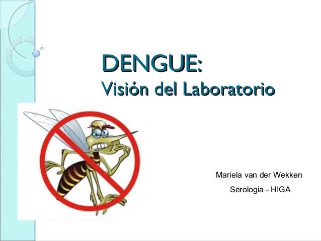 DENGUE:Visión del Laboratorio              Mariela van der Wekken                 Serologia - HIGA