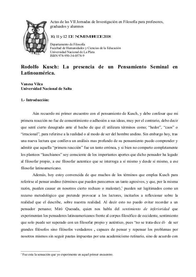 Actas de las VII Jornadas de Investigación en Filosofía para profesores,  graduados y alumnos  10, 11 y 12 DE NOVIEMBRE DE...