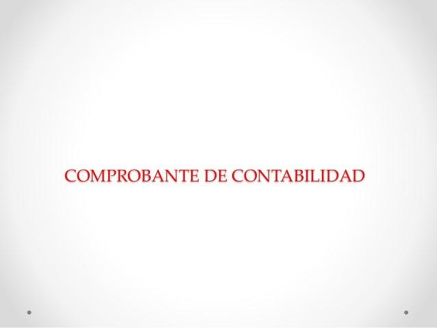 COMPROBANTE DE CONTABILIDAD