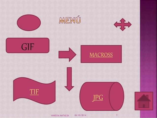 GIF  MACROSS  TIF  JPG  VANESSA MATACEA 04/10/2014 1