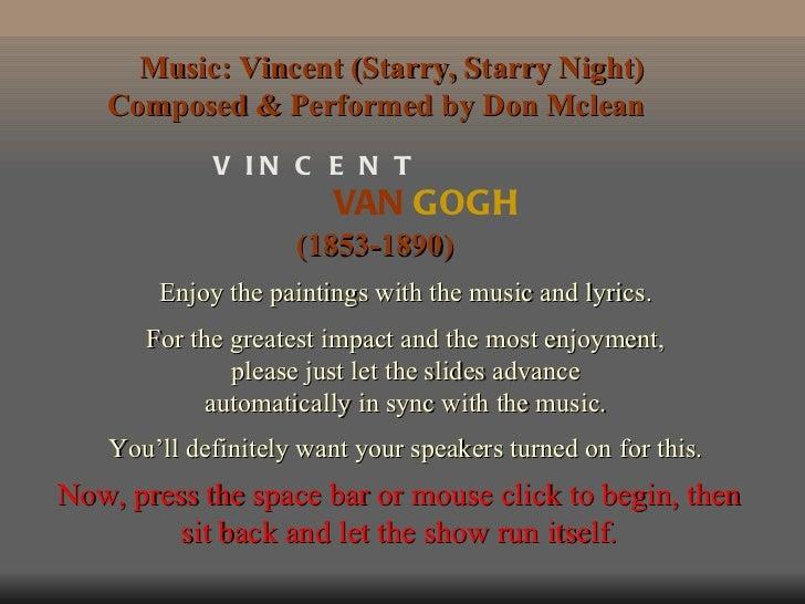 Παρουσίαση έργων του Van gogh