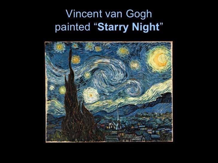 "Vincent van Goghpainted ""Starry Night"""