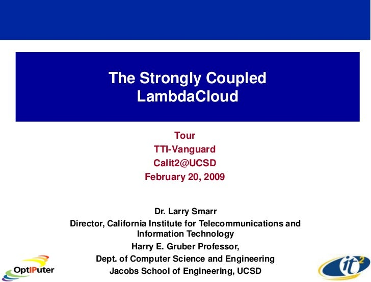 The Strongly Coupled             LambdaCloud                           Tour                     TTI-Vanguard              ...