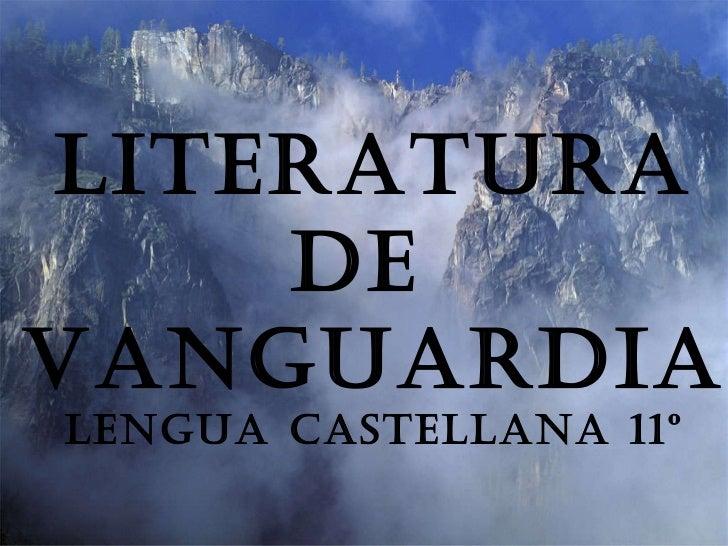 FOMENTO  A LA LECTURA Literatura De  Vanguardia Lengua castellana 11º