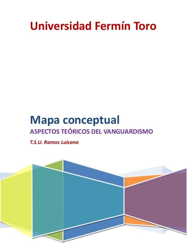 Universidad Fermín ToroMapa conceptualASPECTOS TEÓRICOS DEL VANGUARDISMOT.S.U. Ramos Luisana