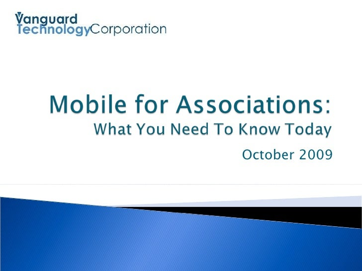 Vanguard Technology - Mobile for Associations webinar