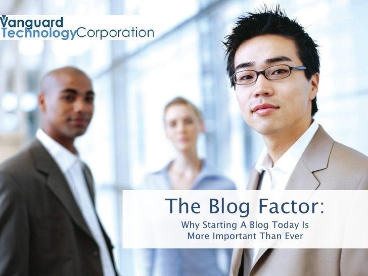 Vanguard Technology The Blog Factor E Book