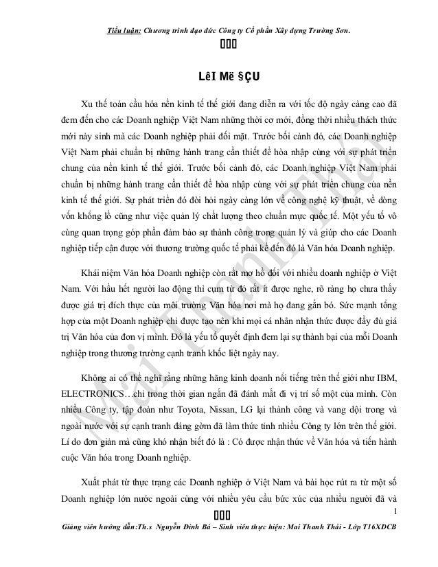 Văn Hóa Doanh Nghiệp - Mai Thanh Thái