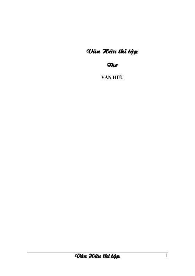 Văn Hữ Thi Tập tập 1