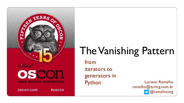 The Vanishing Pattern: from iterators to generators in Python